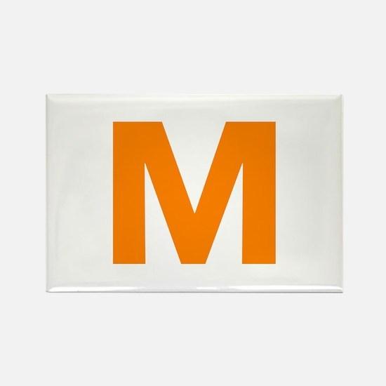 Letter M Orange Magnets