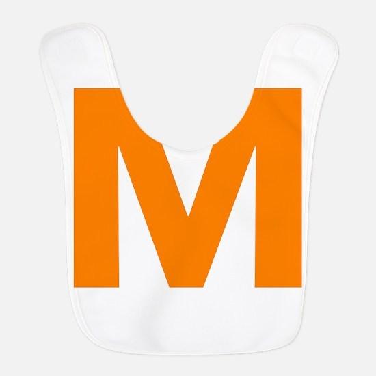 Letter M Orange Bib