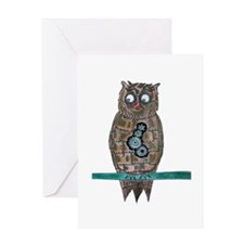 Steam Punk Owl Greeting Cards