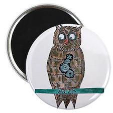 Steam Punk Owl Magnets