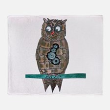 Steam Punk Owl Throw Blanket