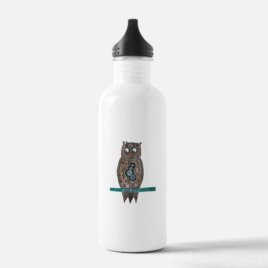 Steam Punk Owl Water Bottle