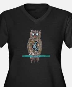 Steam Punk Owl Plus Size T-Shirt
