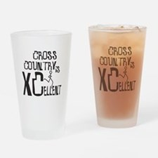 XC Cross Country Drinking Glass