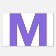Letter M Purple Postcards (Package of 8)