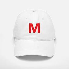 Letter M Red Baseball Baseball Baseball Cap