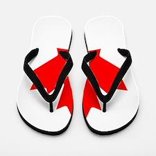 Canadian Flag Flip Flops