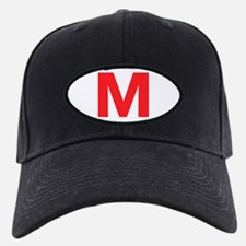 Letter M Red Baseball Hat