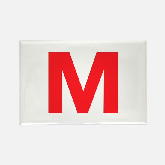 Letter M Red Magnets
