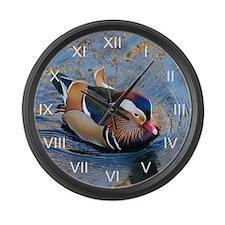 Mandarin Kaleidoscope Large Wall Clock