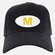 Letter M Yellow Baseball Hat