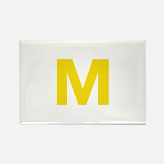 Letter M Yellow Magnets