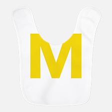 Letter M Yellow Bib
