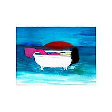 Bathtub Mermaid 5'x7'Area Rug