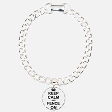 Keep Calm and Fence on Bracelet