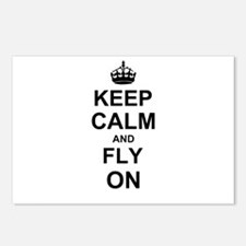Keep Calm and Fly on Postcards (Package of 8)