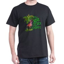 Wine O'Clock Flamingo T-Shirt