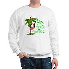 Wine O'Clock Flamingo Sweatshirt