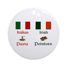 Pasta Potatoes Keepsake Ornament