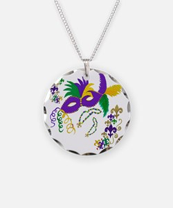 Mardi Gras Mask art Necklace