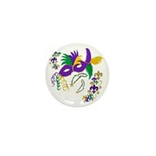 Mardi Gras Mask art Mini Button