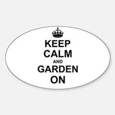 Keep Calm and Garden on Stickers