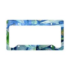 Dolphins and Mermaid Party Ar License Plate Holder