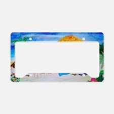 Mermaid Tiki Bar License Plate Holder