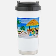 Mermaid Tiki Bar Stainless Steel Travel Mug