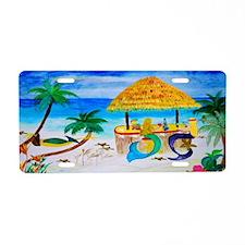 Mermaid Tiki Bar Aluminum License Plate