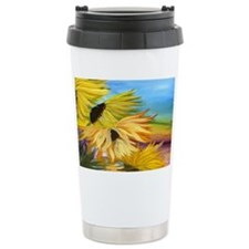 Sunflower Field Art Travel Mug