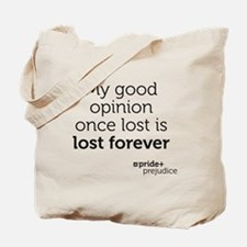 Pride and Prejudice-opinion Tote Bag