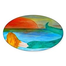 Sunset Mermaid art Decal
