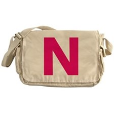 Letter N Pink Messenger Bag