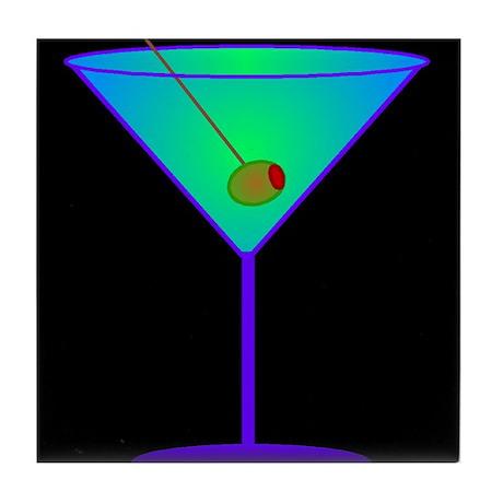 neon martini Tile Coaster