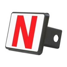 Letter N Red Hitch Cover