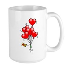 Valentines Day Heart Balloons Mugs
