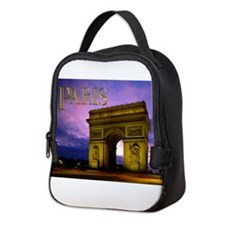 Night at Arc de Triomphe Paris Neoprene Lunch Bag