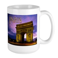 Night at Arc de Triomphe Paris Mugs