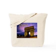 Night at Arc de Triomphe Paris Tote Bag