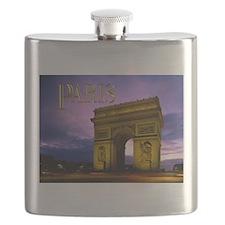 Night at Arc de Triomphe Paris Flask