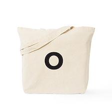 Letter O Black Tote Bag
