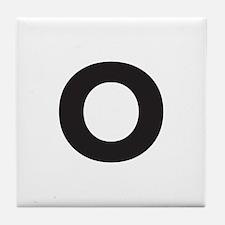 Letter O Black Tile Coaster