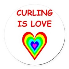 CURLING2 Round Car Magnet