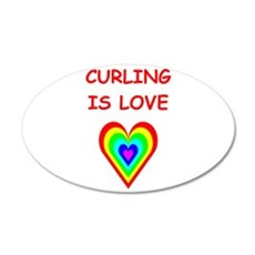 CURLING2 Wall Decal