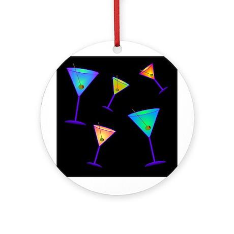 neon martinis Ornament (Round)