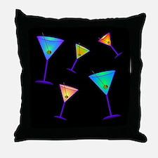 neon martinis Throw Pillow