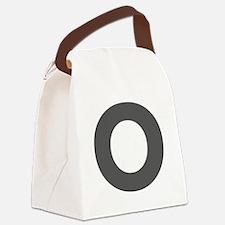 Letter O Dark Gray Canvas Lunch Bag