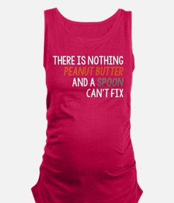 Peanut Butter and Spoon Maternity Tank Top