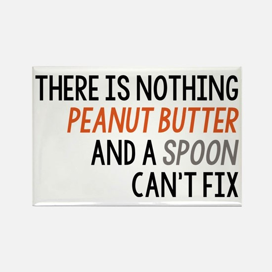 Peanut Butter and Spoon Rectangle Magnet